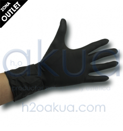 Guante Latex Black & Pro Negro Caja 20 Ud OUTLET