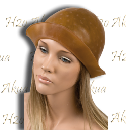 Gorro Mechas Easy Marron Caucho Con Alasn H2o Akua