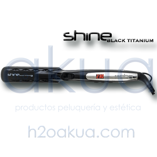 Plancha SHE Shine Black Titanium 28