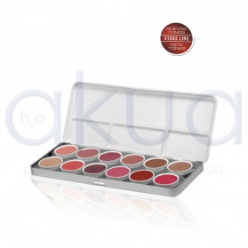 Paleta Lip color labios metalica  12 unid Stage