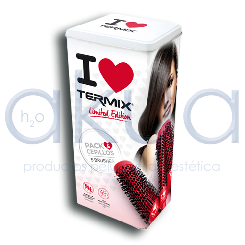 Lote Cepillos C.Ramic Limited Edition I Love Termix 17/23/32/37/43 mm