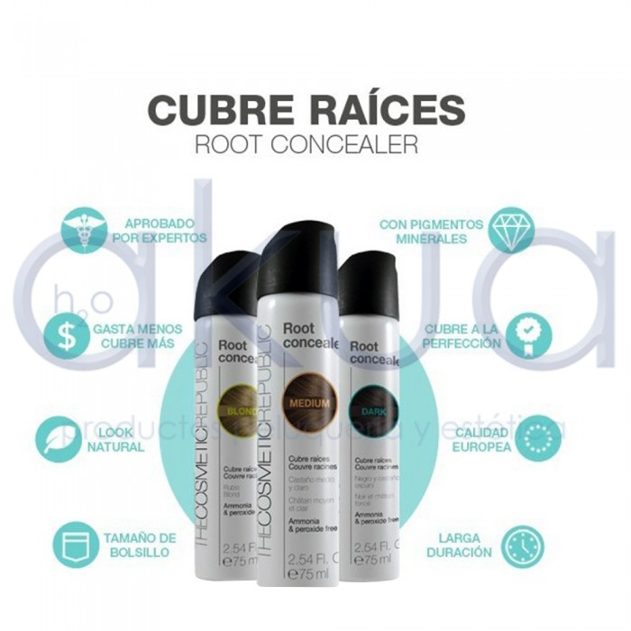 Cubre raices Root Concealer 75ml Laca Spray Color