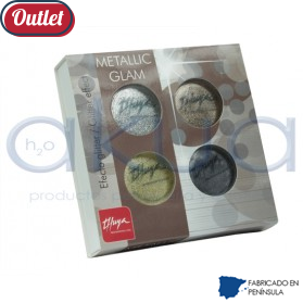 Polvo Acrilico Thuya Efecto Metallic Glam Pack 4 colores OUTLET