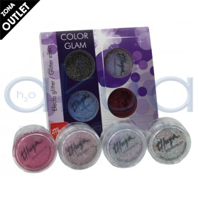 Polvo Acrilico Thuya Efecto Glitter Color Glam Pack 4 Colores OUTLET