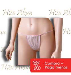 Tanga de papel desechable C/ 100 UNID MUJER