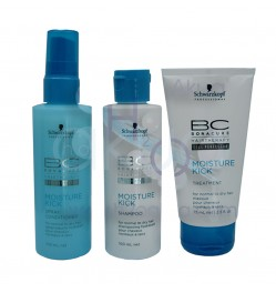 Lote Bonacure Moisture Kick mini cabello seco travel pack