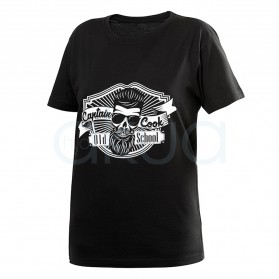 Camiseta negra Captain Cook