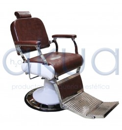 Sillon de  Barbero Retro Granate H2oakua